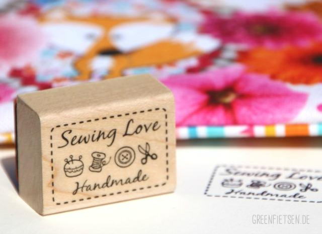 "Stempel ""Sewing Love - Handmade"""