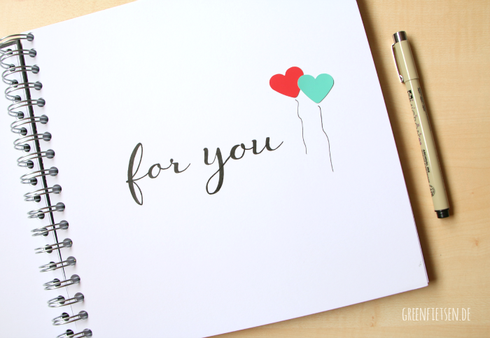 "Handlettering ""for you"" 