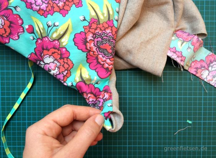 Free Tutorial | Mozzie Bag - Tasche wenden, ausformen und bügeln