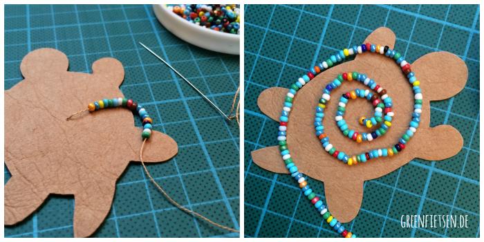DIY-Tutorial | Perlenschildkröte aus SnapPap oder Leder {Vorlage zum Download]