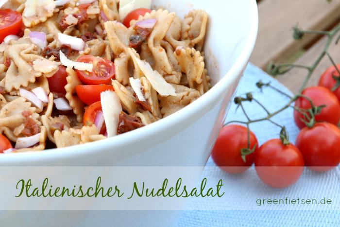 Rezept | Italienischer Nudelsalat mit getrockneten Tomaten und Parmesan