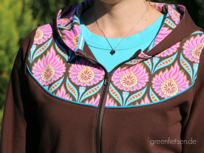 Sweatshirt-Jacke Lady Bella von mialuna - Passe mit Paspel