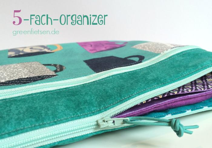 Fünf-Fach-Organizer von Farbenmix | Taschen-Sew-Along 2016 - Januar