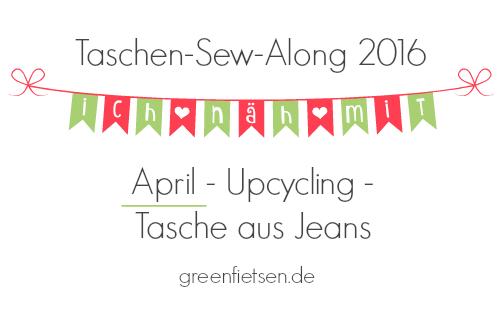 Taschen-Sew-Along 2016 | April - Upcycling - Tasche aus Jeans