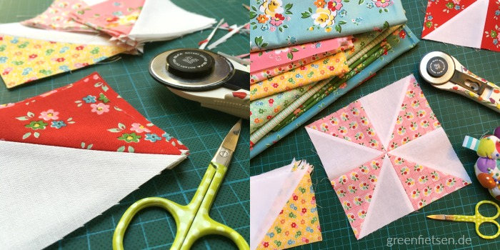 Work in progress - Tulpen Mini Quilt zur Backyard Roses Blog Tour