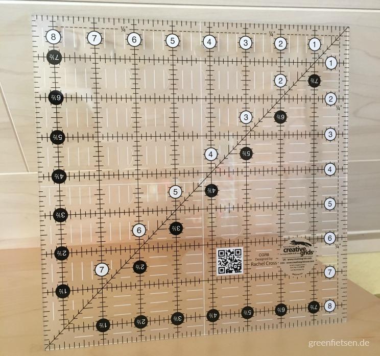 8,5 x 8,5 Inch-Lineal von Creative Grids