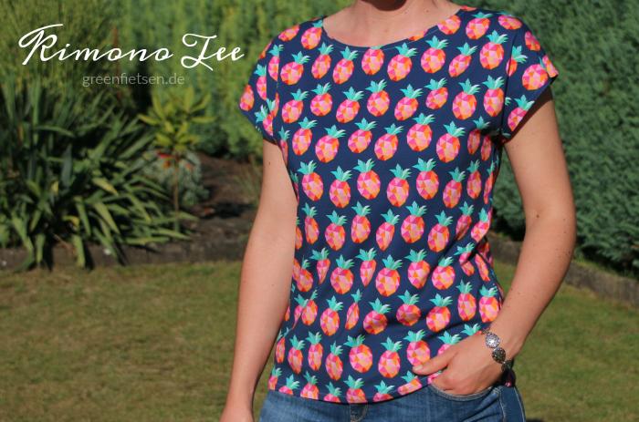 Kimono Tee - Ananas-Shirt nach dem Schnitt von Maria Denmark
