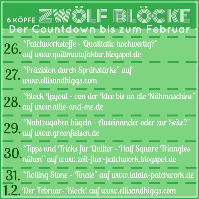 6 Köpfe - 12 Blöcke - Blogtour