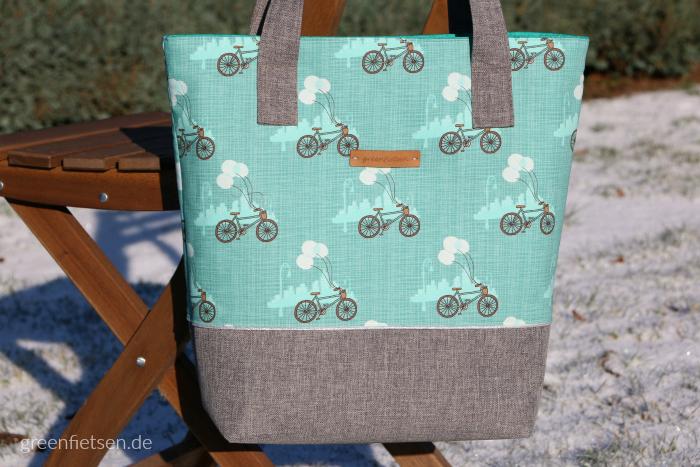 Einkaufstasche mit Fiets für den Taschen-Sew-Along 2017