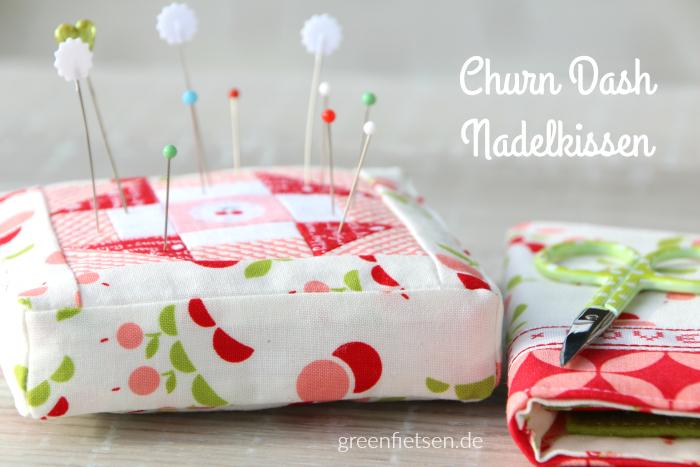 Patchwork | Churn Dash Nadelkissen (Mini-Tutorial)