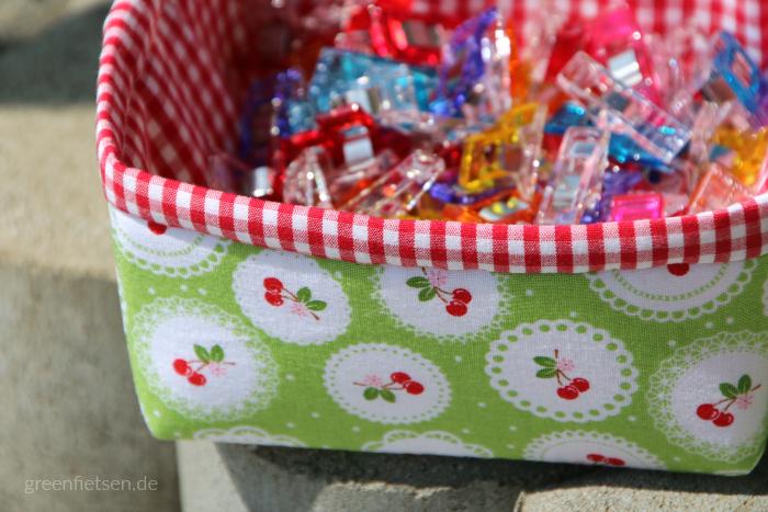 Petit Four Basket - Stoffkörbchen nach der Anleitung von Annie Unrein & Fat Quarter Shop