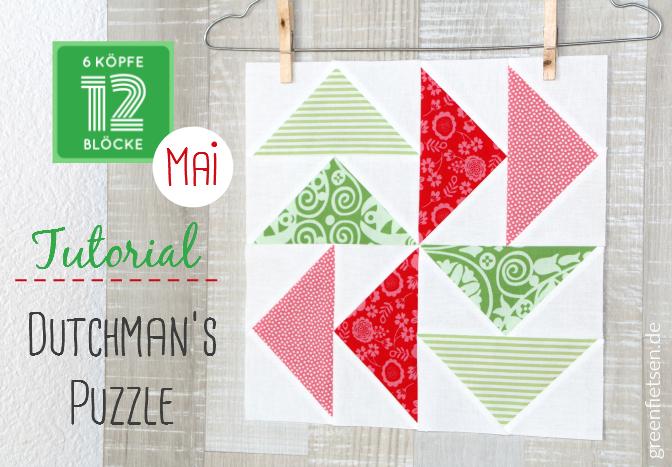 6 Köpfe - 12 Blöcke | Tutorial - Dutchman's Puzzle