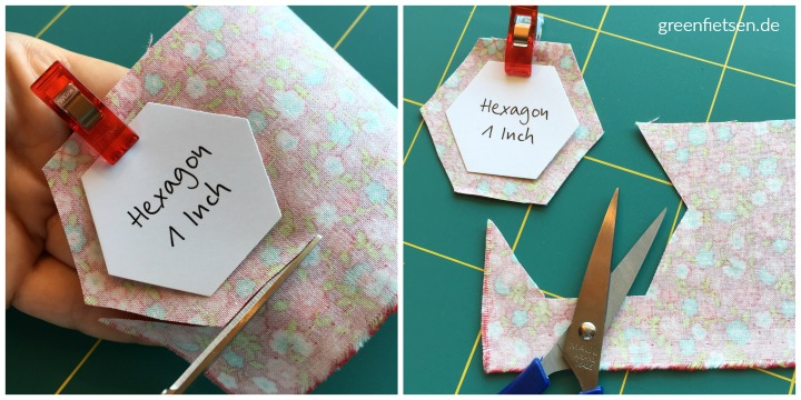 Tutorial | Hexies um Schablonen heften (English Paper Piecing)