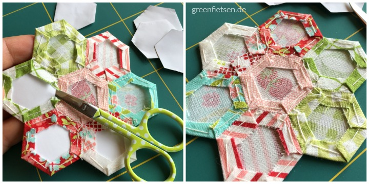 Tutorial 2 | Hexie-Schablonen entfernen (English Paper Piecing)