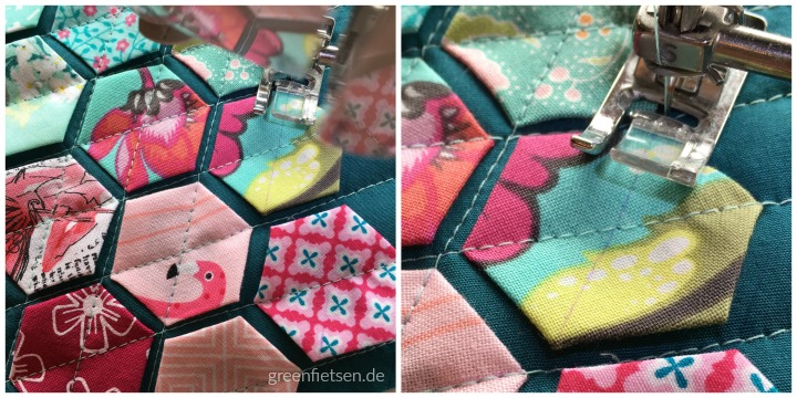 Tutorial | Modern Hexies quilten (English Paper Piecing)
