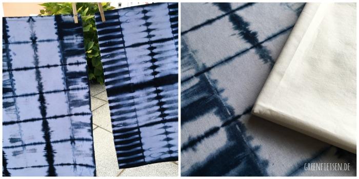 Shibori - Mein Experiment mit Stoff, Textilfarbe und Abbinde-Techniken