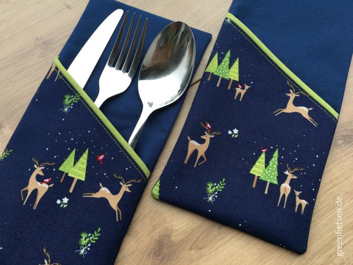 Weihnachtliche Bestecktaschen für die Rupert-Blogtour