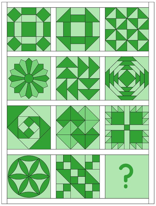 6 Köpfe - 12 Blöcke | Mein Quilt-Layout