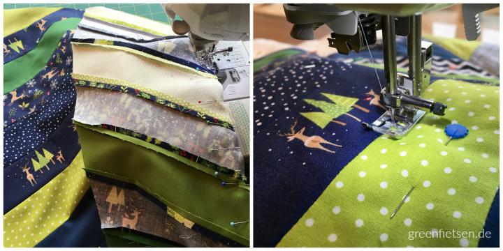 Work in progress: Heringbone-Tischläufer für Weihnachten