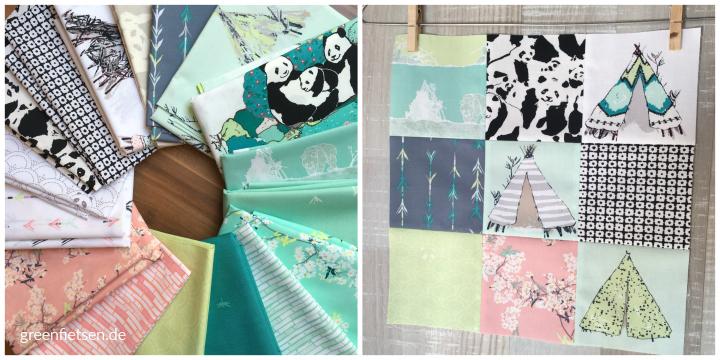 """Stoffserie """"Pandalicious"""" von Katarina Roccella für Art Gallery Fabrics"""