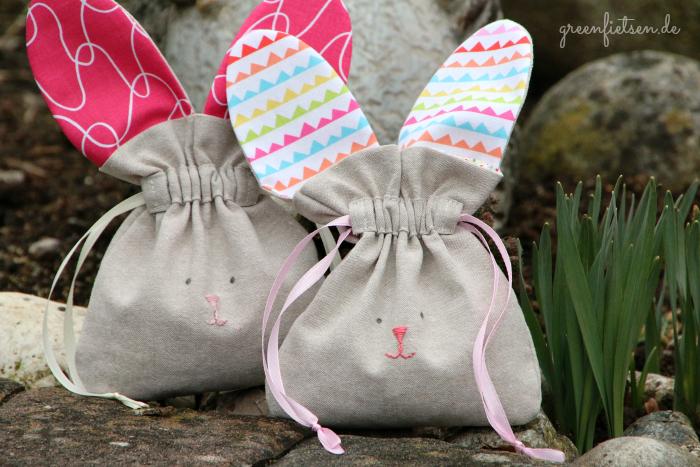 Hasen-Täschchen | Drawstring Bunny Bag