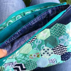 Fünf-Fach-Tasche mit Hexies