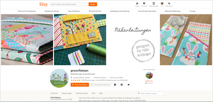 Etsy-Shop greenfietsen