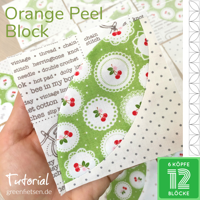 Tutorial - Orange Peel Quiltblock
