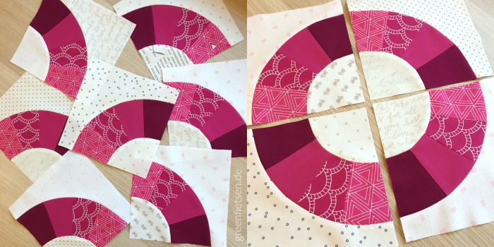 Fan Block mit Foundation Paper Piecing