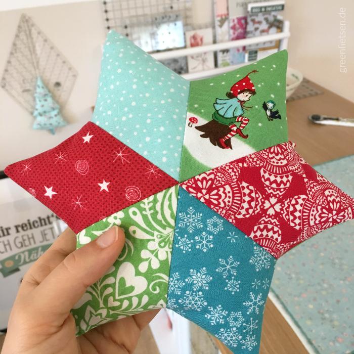 Patchworksterne - Weihnachtsdeko nähen