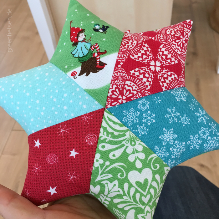Weihnachtsdeko - Patchworksterne nähen