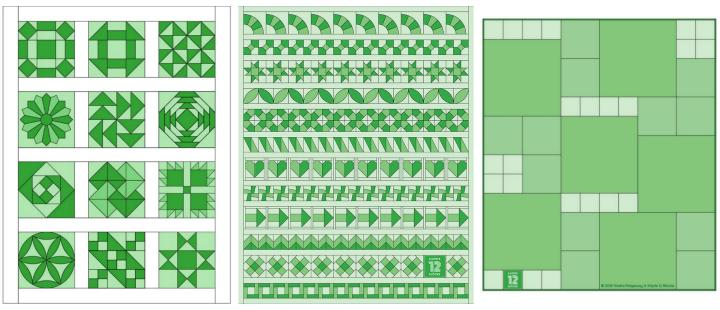 6 Köpfe - 12 Blöcke Quilt-Layouts
