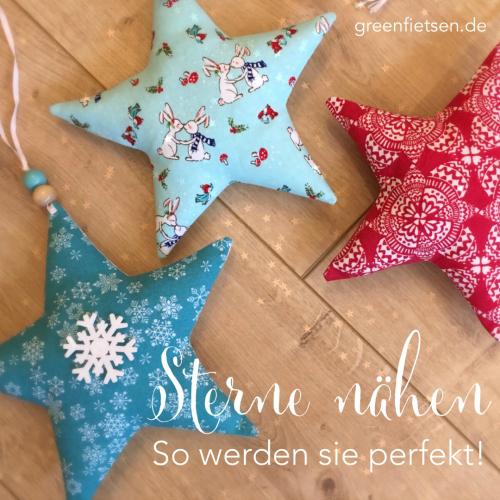 Weihnachtssterne nähen - Mit diesen 5 Tricks werden sie perfekt!