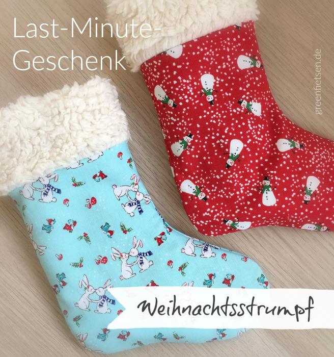Last-Minute-Geschenk: Weihnachtsstrumpf