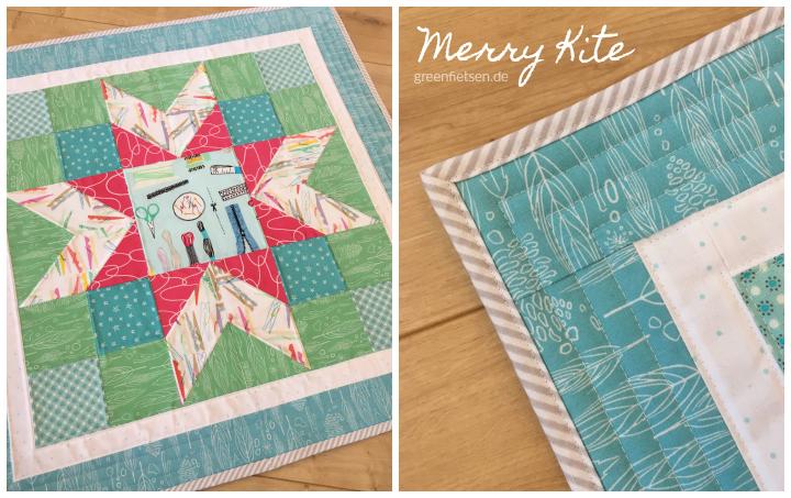 Merry Kite Quiltblock