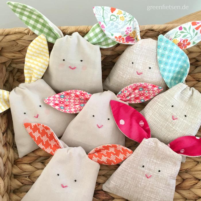 Hasen-Stoffbeutel {Bunny Treat Bags}