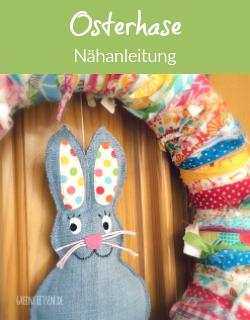 Nähanleitung - Osterkranz mit Jeanshase