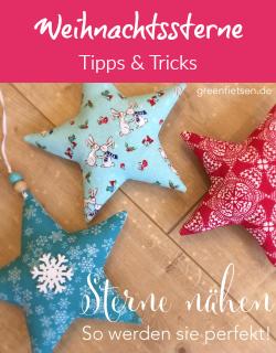 Tipps | Sterne nähen - So werden sie perfekt!